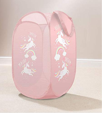 Pink Pop Up Unicorn Laundry Basket