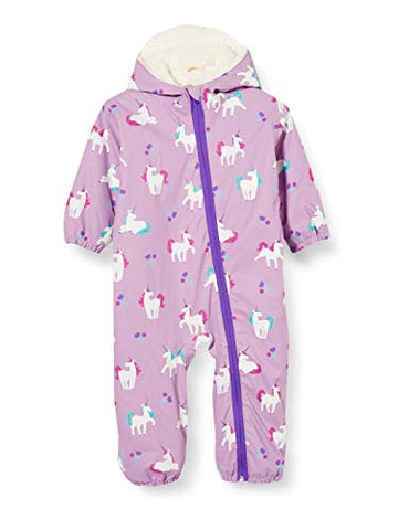 Hatley Baby Girl's Colour Changing Snowsuit | Unicorn Design | Lilac
