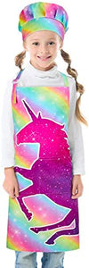 Unicorn Rainbow Kids Baking Apron & Chef Hat | Adjustable