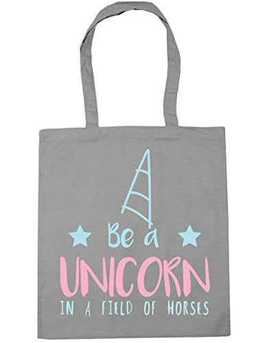 HippoWarehouse Be a unicorn in a field of horses Tote Shopping Gym Beach Bag 42cm x38cm, 10 litres