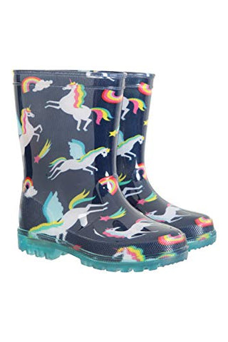 Mountain Warehouse | Children's Unicorn Wellington Boots | Light Up Soles