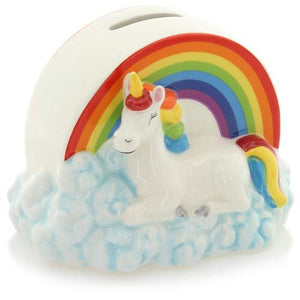 A Beautiful Cute Rainbow Unicorn Money Box For Children.