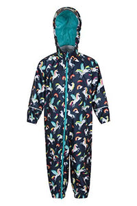 Unicorn Puddle Suit For Kids | Waterproof Children's Rain Coat | Mountain Warehouse