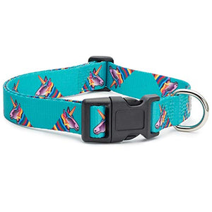 Unicorn Themed Dog Collar | Small | Turquoise