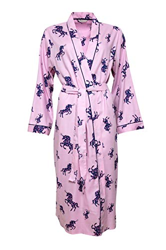 Ladies Pink Unicorn Print Dressing Gown | Purple Floral | Cyberjammies