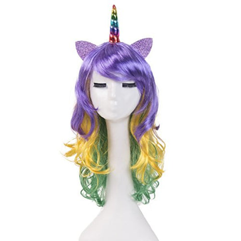 Unicorn Women's Hair Wig | Fancy Dress | Headband | Carnival Party Cosplay Costume