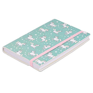 Mint Green and Pink Unicorn Notebook