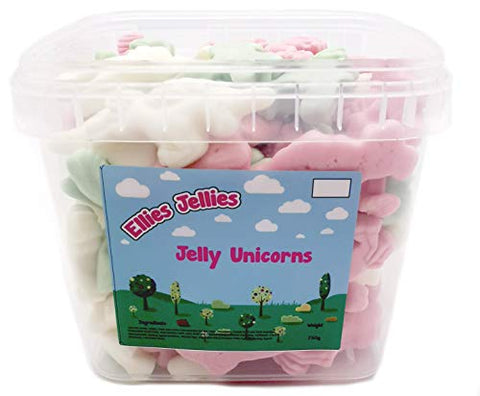 Unicorn Jellies | 750g Square Tub | Ellies Jellies®