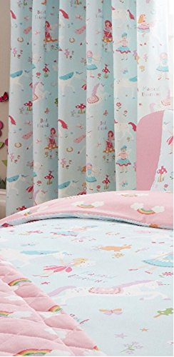 Unicorn princess clouds and rainbows curtains