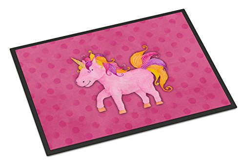 Cute Pink and colourful unicorn themed mat for outdoors and indoors. Teenage girls bedroom!