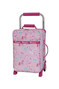 it Luggage Girls' World's Lightest, Unicorn Print, Pink, Suitcase