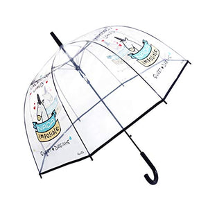 Unicorn Design Transparent Umbrella | Dome Shape
