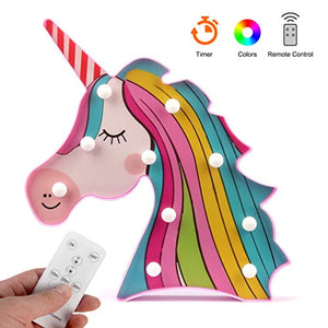 Colourful Unicorn Marquee Sign LED Lights- Decorative Mood Light (Rainbow Unicorn)