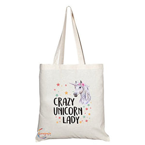 Crazy Unicorn Lady Tote Shoulder Bag
