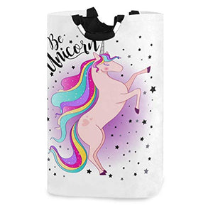 Multi Coloured Unicorn Storage Bag Washing Bag