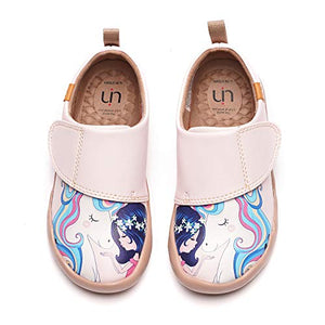 Unicorn and girl girls shoe hand painted