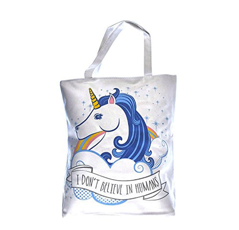 Unicorns Don't Believe In Humans Tote Shopping Bag