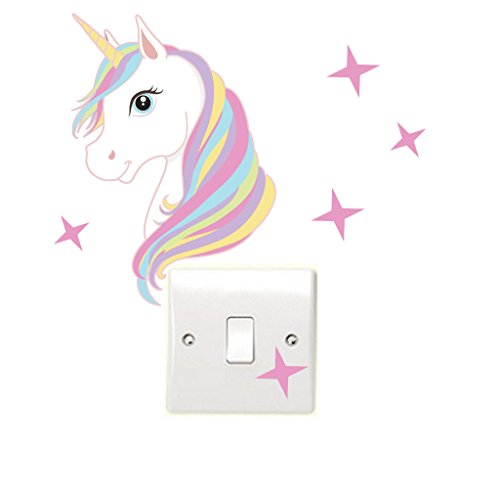 unicorn stars wall sticker for kids bedroom