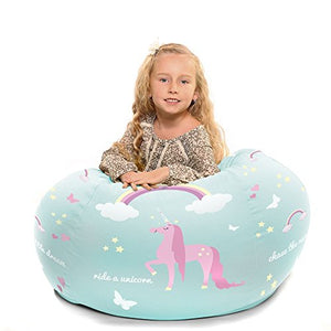 Personalised Kids Unicorn Beanbag (Medium)