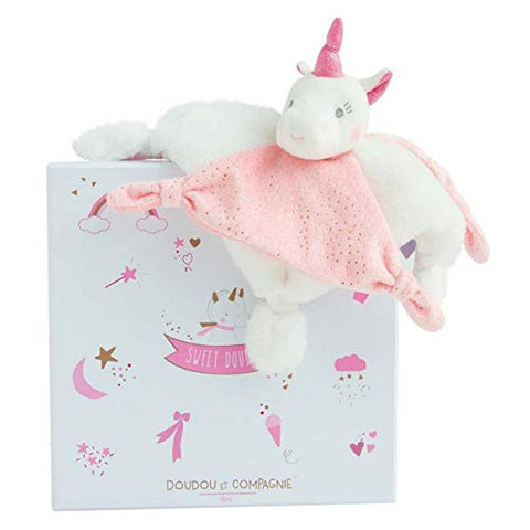 Cuddly Unicorn Comforter | Doudou et Compagnie  | Gift Box