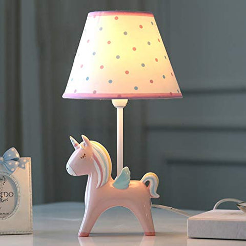 Cute Unicorn Children's Bedside Light | Lamp | Pink