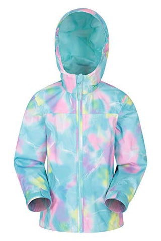 Kids Tie Dye Effects Raincoat Jacket