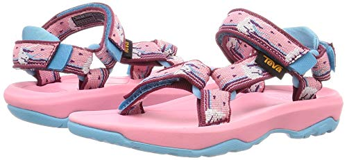 Open toed girls sandals pink blue