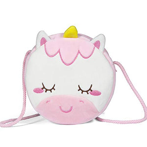 Cute Little Unicorn Girls Shoulder Bag | White