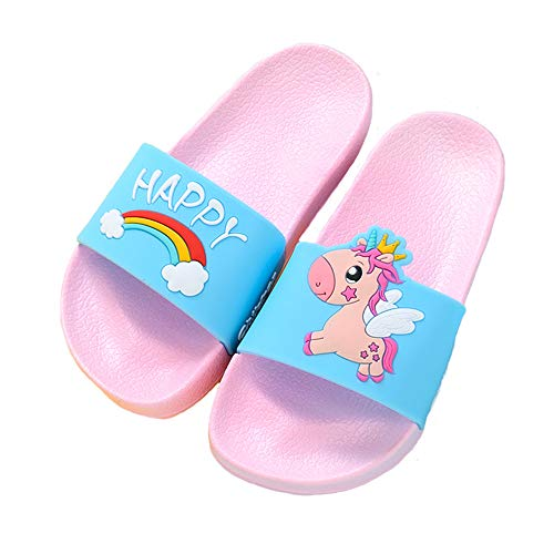 Happy Unicorn pool sliders blue pin rainbow cloud