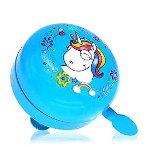Kid's Unicorn Bike Bell | Blue Bicycle Bell