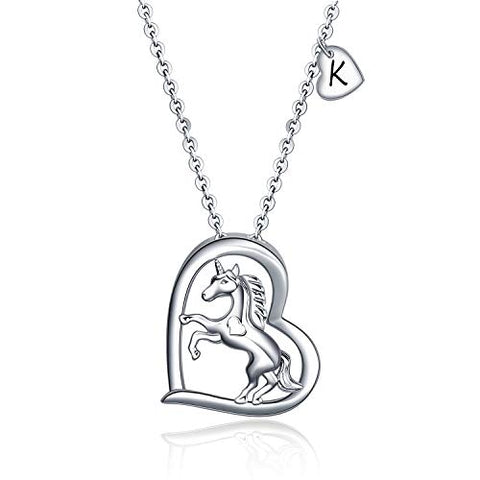 Heart Unicorn Necklaces For Women | Mother's Day Gift | 925 Sterling Sliver