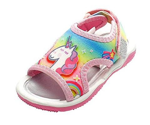Peppa Pig Girls Rainbow Unicorn Sandals Various Sizes