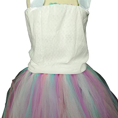 Girls Princess Unicorn Rainbow Tutu Fancy Dress Kids Ballet Tulle Birthday Party Fancy Dress