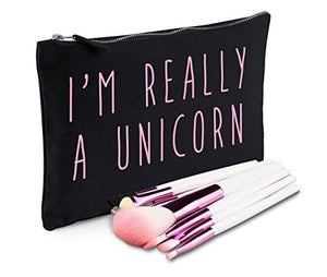 I'm Really A Unicorn Make-Up Bag Black