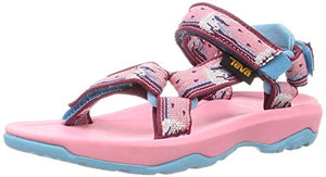 Girls Teva unicorn head sandals pink blue