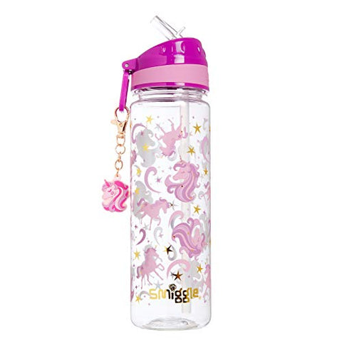Smiggle Gold Kids Water Drink Bottle | Unicorn Print