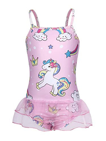Pretty pink unicorn swimming costume with tutu