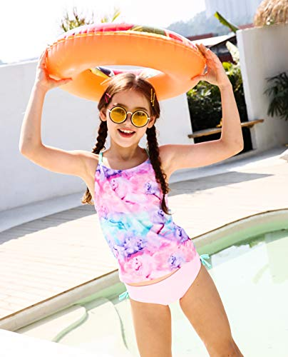 2 piece unicorn swimming costume girls