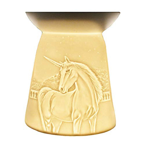 Unicorn Candle Cello Lithophane Porcelain Tealight Wax Melt Burner