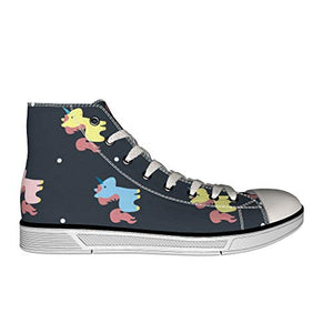 Black unicorn hi top trainer