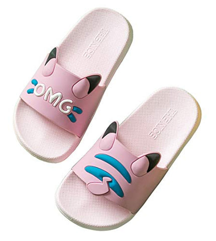 Boys Girls Cute Bathroom Slipper Kids Classic Beach Slippers Slide Sandals Pool Shoes Soft Flip Flops Summer Anti-Slip House Slippers