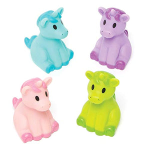 Unicorn Water Squirters for Bath Time, Assorted (Pack of 4)