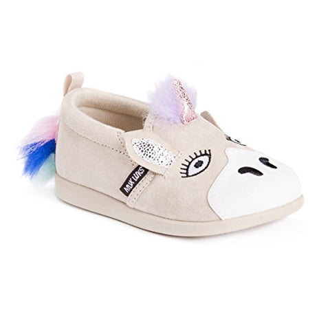 Toddler baby unicorn shoe beige pink blue