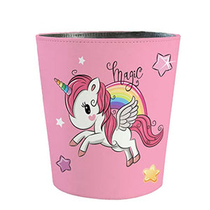 Unicorn Trash Bin | 10L | Waterproof Leather Pink Paper Bin