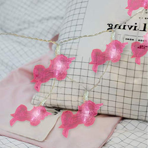 Pink Unicorn LED String Lights Fairy Lights