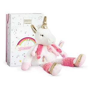 Unicorn Soft Toy 22 cm - Doudou et Compagnie - Baby Shower Gift