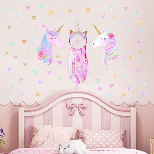 Girls Unicorn Bedroom Decoration | Dreamcatcher & Wall Stickers