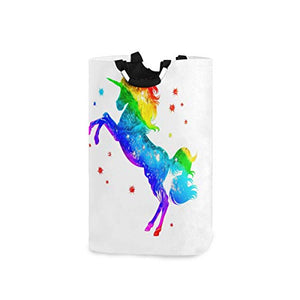 Rainbow Unicorn Collapsible Laundry Basket