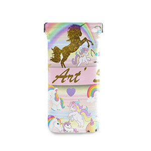 Gold Glitter Unicorn Sunglasses Pouch