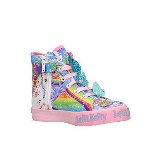 Unicorn mulitcolour pink sole trainers